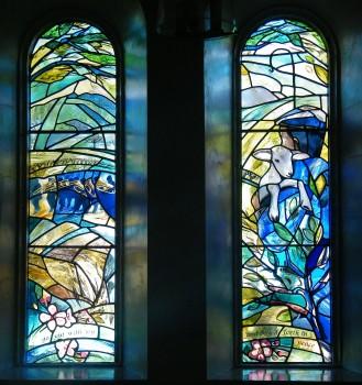 Vestibule windows in Whitburn South Church installed in 2013