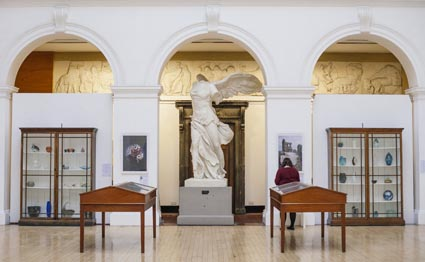 Glass exhibition in ECA sculpture court