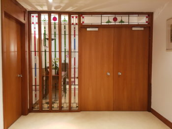 Doors in hall leading to lounge